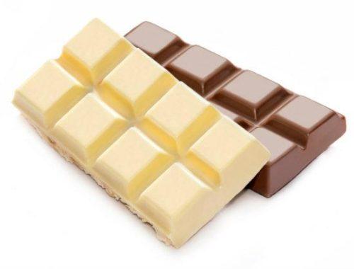 white and milk chocolate